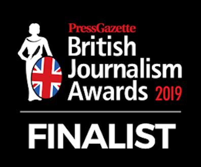 Finalist, Health and Life Sciences Journalism, British Journalism Awards, 2019
